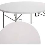Mesa Plegable (maletín) - Redonda 1,54 Ø 8-9 pax Polietileno