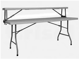 mesa rectangular doble altura - Barra / Buffet (2 alturas)