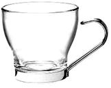 Vaso Café Cristal asa inox. 22 cl y 10 cl - Copas Especiales