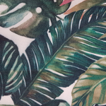 Mantel - Tropical hojas - Válido para Mesa Redonda 1.60 Ø o 1.80 Ø, Cóctel de 0.80 Ø o 2 x 0.90
