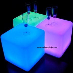 MOBILIARIO LED Cubos 35 45 cm - Mobiliario